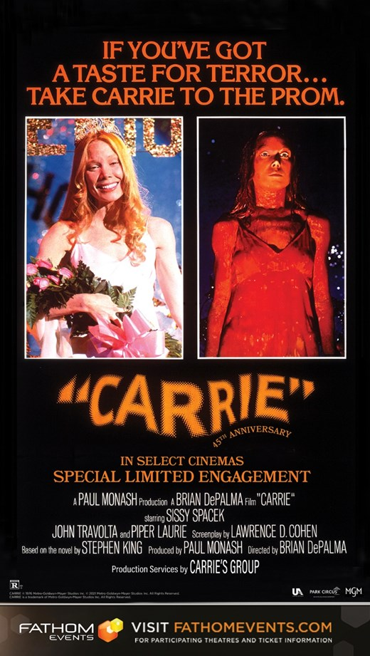 CARRIE 45TH ANNIVERSARY poster