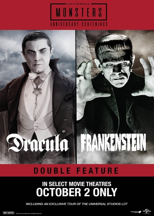 DRACULA & FRANKENSTEIN DOUBLE FEATURE poster