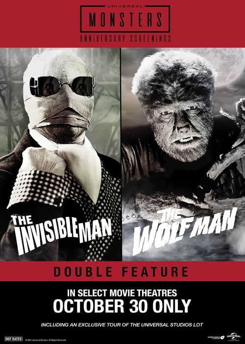 WOLFMAN & THE INVISIBLE MAN DOUBLE FEATURE poster