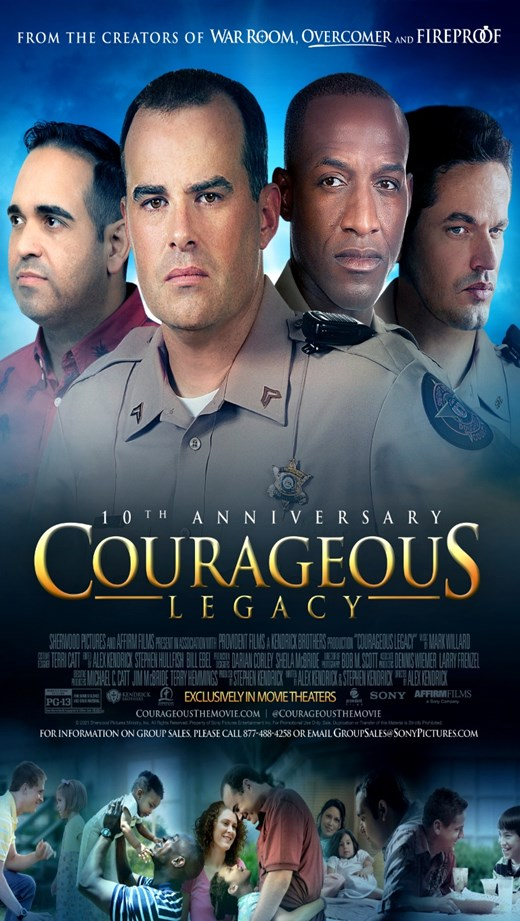 COURAGEOUS LEGACY 10TH ANNIVERSARY poster
